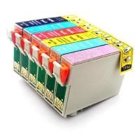 Alternativní inkousty pro Epson Stylus Photo 1400, PX650, PX660, PX700 CMYK + LC + LM 6 ks