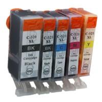 Alternativní inkousty Canon CLI521 CMYK + PGI520 BK 5 ks