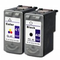 Alternativní inkousty za Canon PG40 Black a CL41 Color